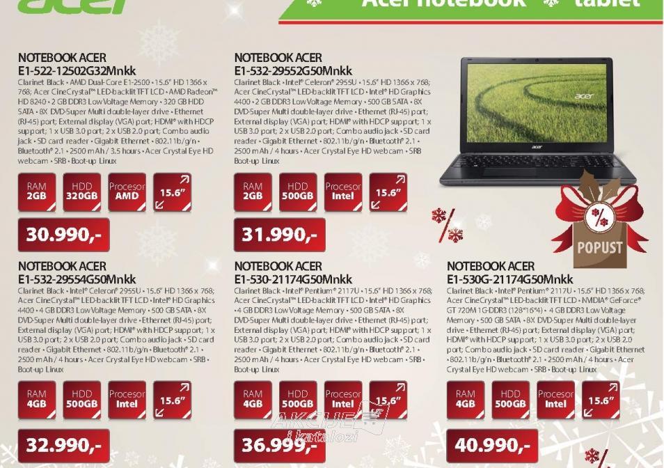 NOTEBOOK E1-530-21174G50Mnkk