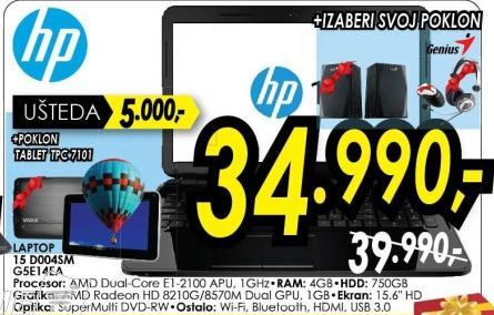 Laptop 15 D00sa G5e14ea