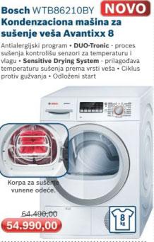 Mašina za sušenje veša  WTB86210BY