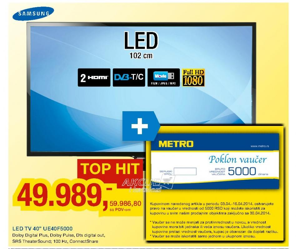 "Televizor LED 40"" UE40EH5000"