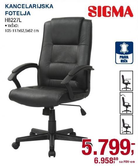 Kancelarijska fotelja H8227l