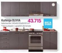 Kuhinja Olivia, bela, lak siva