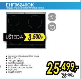 Nezavisna staklokeramička ploča EHF96240OK