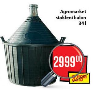 Agromarket Stakleni balon 34 L