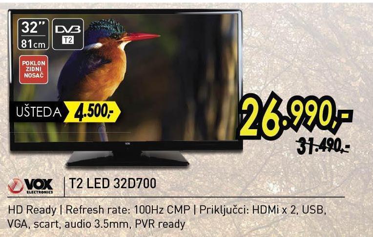 """Televizor LED 32""""  T2 32D700"""