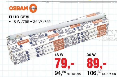 Fluo cevi, 18W/765, OSRAM