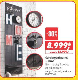 Garderobni panel Home