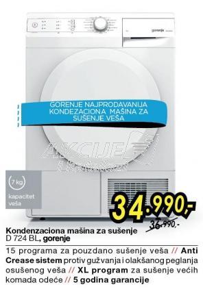 Mašina Za Sušenje D724BL