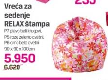 Vreća za sedenje Relax štampa