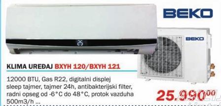 Klima uređaj Bxyh 120/Bxyh 121