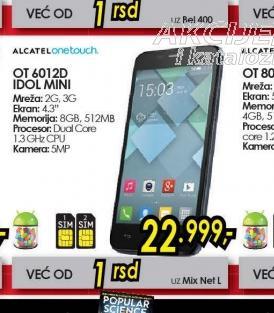 Mobilni telefon OT-6012D