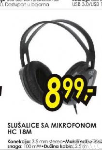 Slušalice sa mikrofonom HC 18M