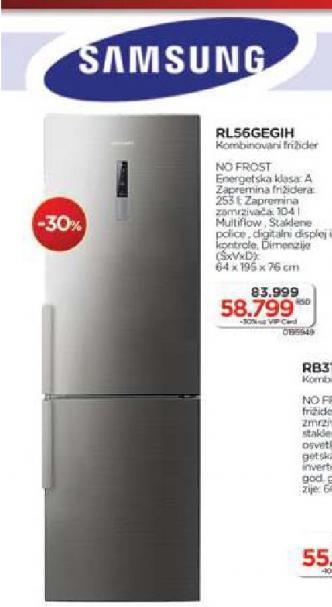 Kombinovani frižider RB31FERNDSS/EF
