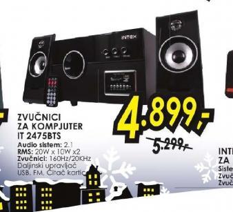 Zvučnici za kompjuter IT-2475BTS
