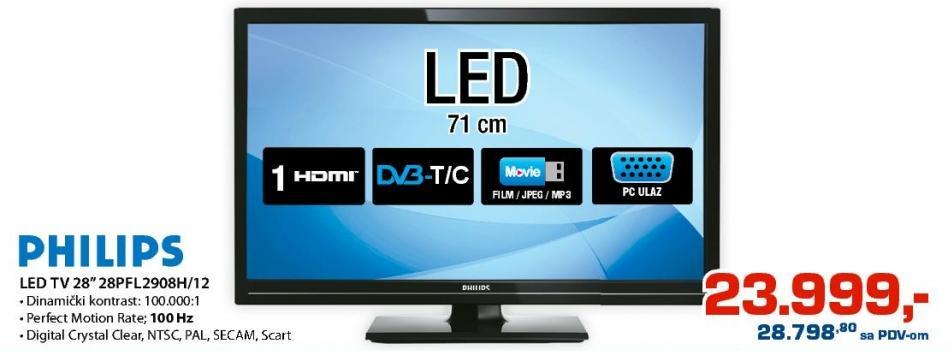 "Televizor LED 28"" 28PFL2908H/12"