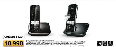 Gigaset S820 bežični telefon (Crni)
