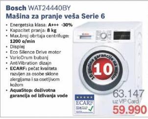 Mašina za pranje veša Wat24440by