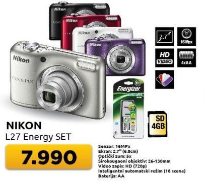 Digitalni fotoaparat L27 Energy Set