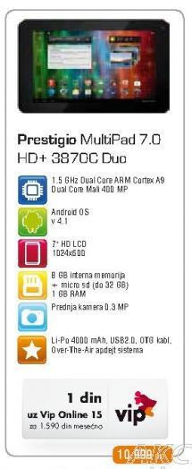 Tablet MultiPad 7.0 HdPlus 3870c Duo