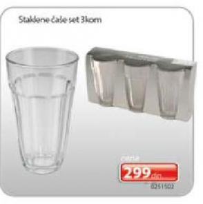 Staklene čaše