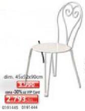 Stolica metalna bela