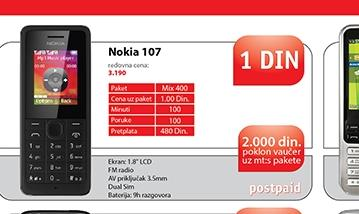 Mobilni telefon 107 dual sim