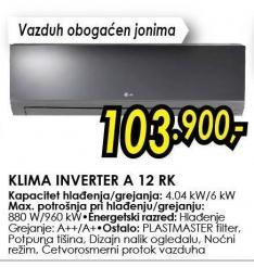 Klima Inverter A 12 Rk