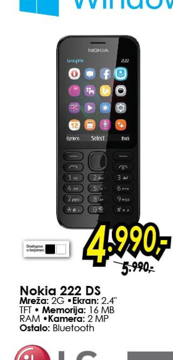 Mobilni telefon 222 DS