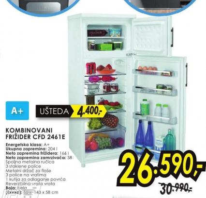 Frižider kombinovani CFD 2461E