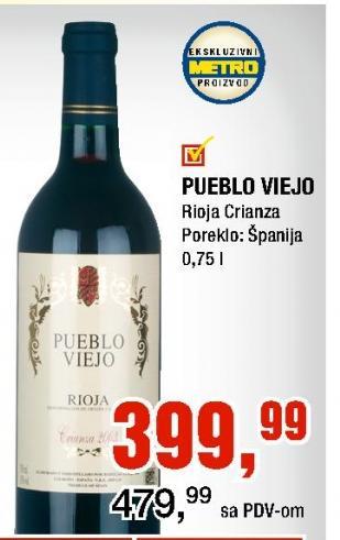 Crno vino Pueblo Viejo