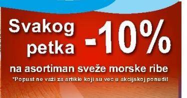 -10% svakog petka na svežu ribu