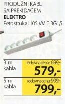 Produžni kabl sa prkidačem H03W-F3G1.5