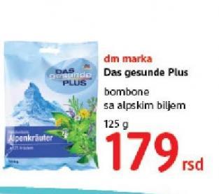 Bombone alpsko bilje