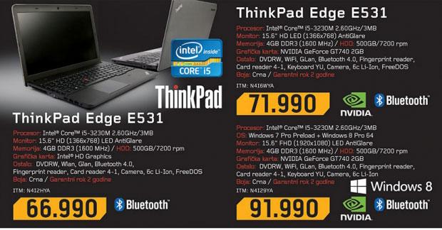 Laptop Lenovo ThinkPad Edge E531