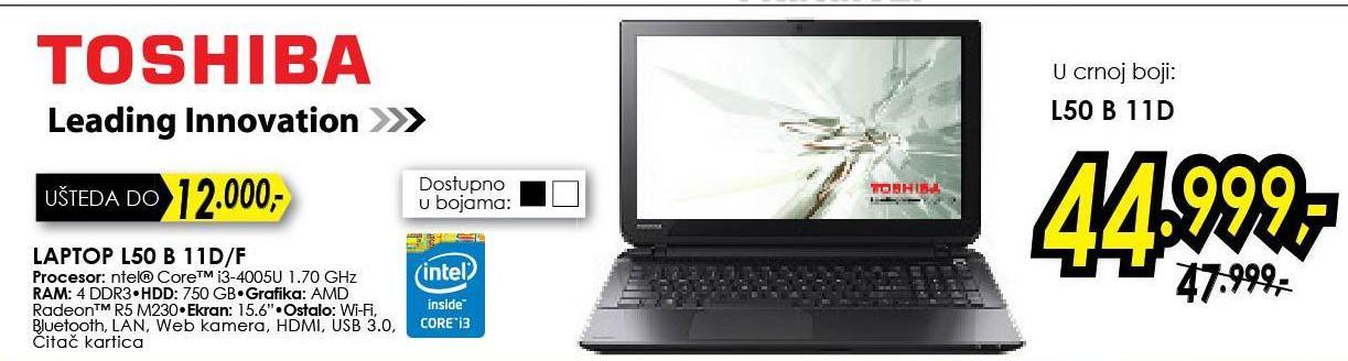 Laptop Satellite L50 B 11 D