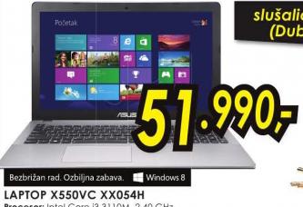 Laptop X550VC-XX054H (Windows 8)