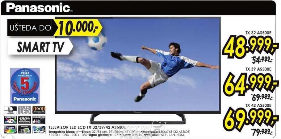 """Televizor LED 32"""" Tx 32as500e"""