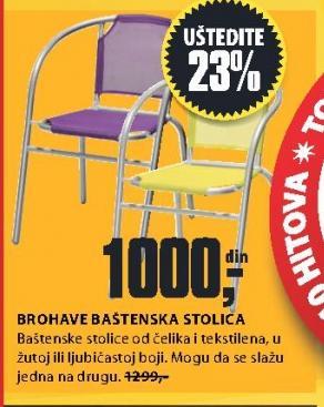Baštenska stolica Brohave