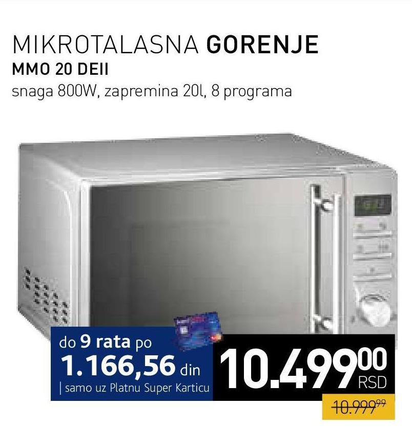 Mikrotalasna MMO 20 DEII