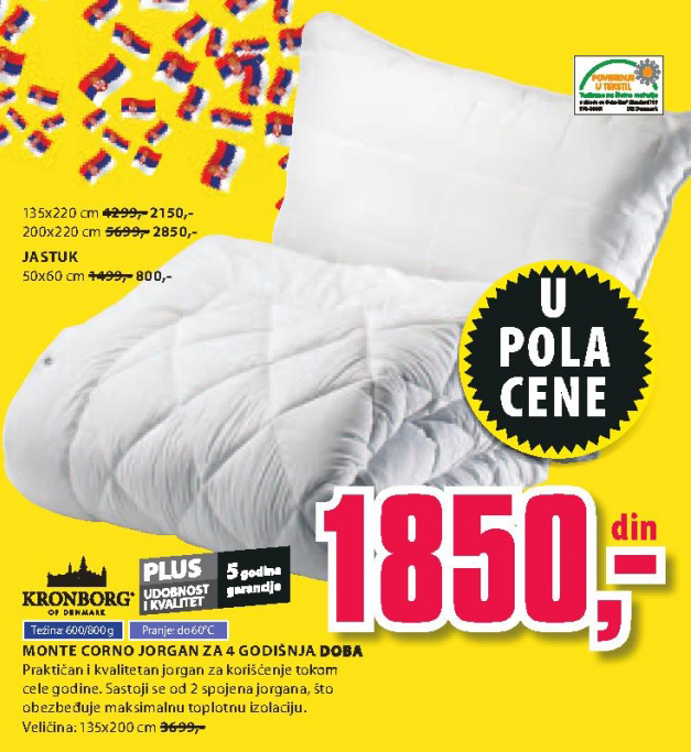 Jorgan Monte Corno, 135x220cm