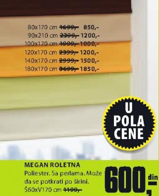 Roletna  MEGAN, 100x170cm.