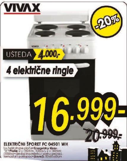 Šporet električni FC-04501WH