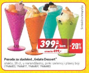 Posuda za sladoled Gelato Dessert