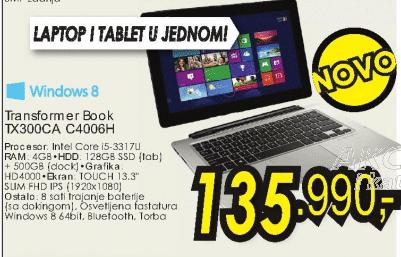 Tablet Transformer Book TX300CA-C4006H