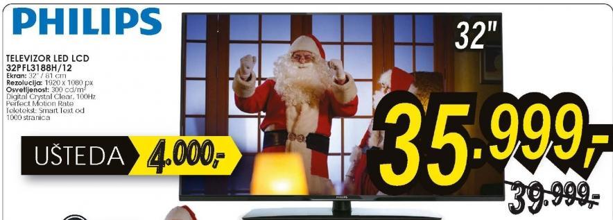 Televizor LED 32PFL3188H/12