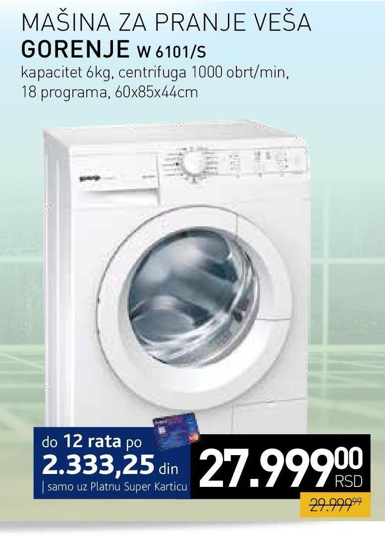 Veš mašina W 6101/S
