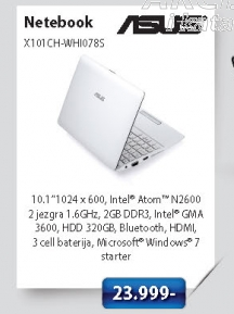 Notebook X101CH-WHI078S