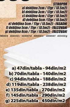 Stiropor 5cm 17gr Fasadni