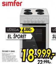 Šporet SIMFER F 5043 ZERW