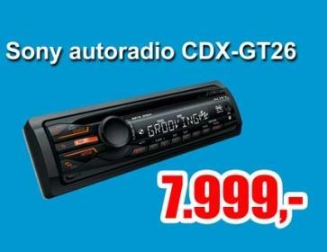 Autoradio CDX GT 26